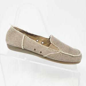 Aerosoles Women's Grayish Brown Canvas Loafers 7.5